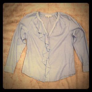 Loft blue blouse, size M